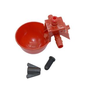 50 establece un rojo de codorniz Waterer alimentador de animales automática Bird Coop alimentación de aves de corral tazas de consumición de pollo aves de bebedor de agua