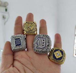 реальный штраф Оптовая Детройт Тигр s 1945 1984 2006 2012 Чемпионат кольцо набор мужчин кольца 4 шт./лот