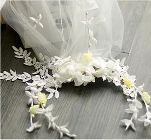 Romantische böhmische Hochzeit Blumen-Stirnband mit Kamm Schleier Brautblumenkrone Boho Hochzeit Crown Brides Kopf Garland Haarblüten