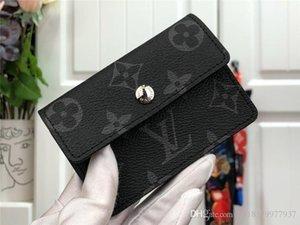 Heiße Frauen Portemonnaie Designer Luxus-Tasche Geldbörse aus echtem Leder-Kartenhalter Luft Stern 7264991 M60044 LOU Serie mit Box