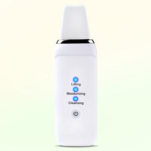 Électrique Visage Exfoliant Visage à ultrasons Ion Cleaner peau Scrubber Deep Clean Instrument Peeling Skin Portable Équipement de beauté