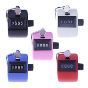 Contador de 4 dígitos Contadores Número plástico resistente à mão manual Dedo visualização da contagem do Tally Clicker Temporizador Pontos Clicker GGA1783