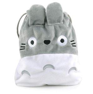 1 Pc new cartoon Hayao Miyazaki my Neighbor TOTORO soft storage bag drawstring bag plush toy plush coin bag plush purse