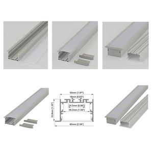 Perfil led de aluminio de brida lineal y canal led de tipo T de 65 mm de ancho para extrusión de techo de estilo ligero montado en superficie o para pared