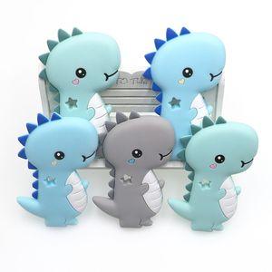KOVION BPA FREE 1 STÜCK Dinosaurier Silikon Baby Beißring Nagetier Baby Kinderkrankheiten Spielzeug Kaubare Tierform Produkte Pflege Geschenk