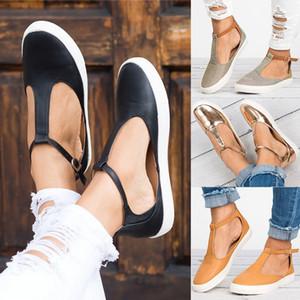 Donna Sandali di modo di estate delle donne punta chiusa scarpe basse donna femminile calzatura traspirante Sandalias Plus Size