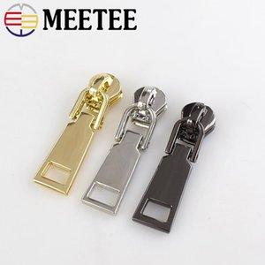 Meetee 5 # Metal Zipper Slider Zip Puller para Bolsos de Costura Maleta Ropa Escudo Cabeza de Cremallera Kit de Reparación de Accesorios G6-3