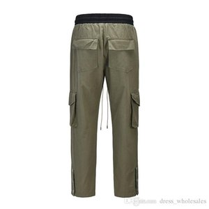 Women Cargo Quality For Harem Casual XSQ Pants Cotton Men Fashion Designer Sweatpants Fashion RHUDE High Pants Loose Cfnnw