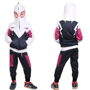 Children Cartoon Clothing Set Kids Novel Hoodies+Pants Mask Cap Gwens Tracksuit Boys Spring Autumn Sportswear 3-8 Years Child Clothes Sets