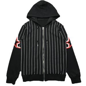 Мужская куртка стилиста верхняя одежда Мужчины Женщины высокое качество полосатая печать куртки мода мужской стилист пальто с капюшоном размер M-XXL