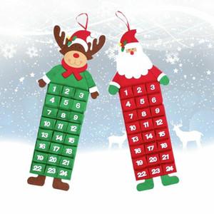HOT Christmas Advent Calendar with Pockets Santa Reindeer Snowman  Christmas tree Christmas house Home Wall Decor