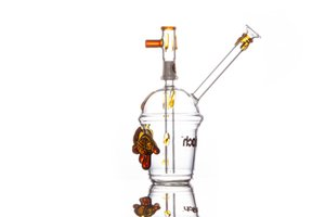 7.5 Inch glass bongs Glass Beaker Dab Rig bong mini Water pipe tortoise Oil Rig smoking hookah bubbler
