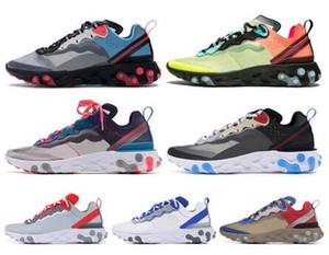 Siyah beyaz Yelken Kraliyet Ton Çölde Kum tasarımcı nefes spor boyutu 36-45 sneaker Eleman 87 55 Erkek Kadın Ayakkabı Koşu Tepki