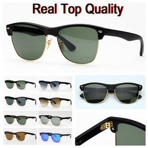 Herren Sonnenbrille fahsion Sonnenbrille Frauen Männer übergroßer Stil reale hochwertige Sonnenbrille mit Ledertasche, Stoffe und Kleinpaket!