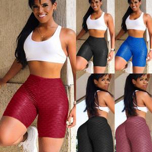 Yeni Beş Farklı Renk Katı Gym Yoga Şort Skinny Spor Spor Stretch Yüksek Bel Sıcak Pantolon Mini Şort Womens