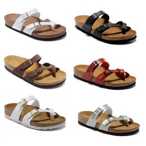 Mayari Arizona Gizeh 2019 été Hommes Femmes appartements sandales en liège pantoufles unisexe casual chaussures imprimer des couleurs mélangées Fashion Flats taille34-46