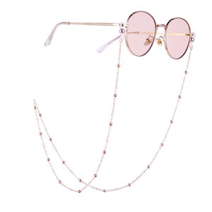 BZ1334 ins fresh and artistic round ball Nonskid chain hanging neck glasses rope anti-slip chain glasses choker