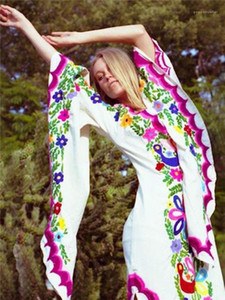 Мода Цветочный Принт Высота Сплит Бабочка Рукав Богемное Платье Повседневное Вечернее Платье Женские Дизайнерские Платья
