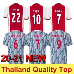 2020 футбол для футбола Neres Kids Kit 2020 2021 обмена ван де Бек Тадич Zieech футбол одежда Tagliafico Huntelaar de Jong Mailoots de ohot