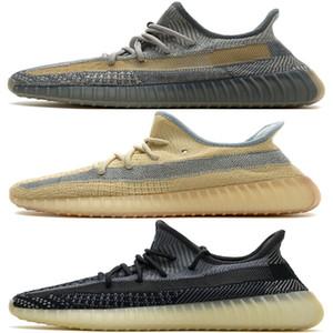 Encuentra Luz trasera V2 Kanye West Zapatos Asriel Israfi Línea Cinder zapatillas de deporte corrientes Tienda Online reflectante White Cloud Yecheil Synth Negro estático