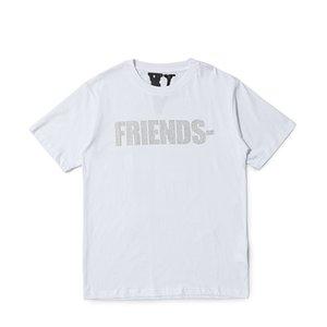 mens vlone gradiente stampa magliette hip hop streetwear cotone stampa manica corta donne vlone t shirt