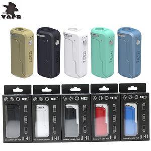 Аутентичные Yocan UNI Box Mod 650 мАч Батарея Предварительный нагрев Переменное напряжение VV Vape Моды с магнитным 510 Адаптер стартовый комплект DHL бесплатно