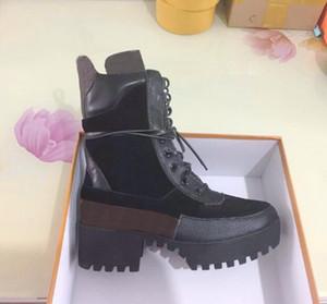 us5-us11 Botines Star Trail de cuero real Botines de diseñador de moda para mujer Botas clásicas de tacón grueso Martin Botas de mujer Zapatos de desierto