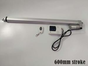 600mm 긴 스트로크 10mm 속도 1000N 최대 부하 DC 무선를 controllor / 24V 선형 액추에이터 유입구 12V 12V