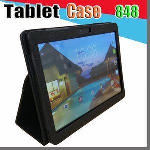 """848 Leather case for 10"""" 10.1 inch 2019 MTK6572 MTK6582 MTK6592 MTK6592 MTK6737 tablet phone 3G 4G LTE Octa Core 4GB 64GB tablet PC I-PT"""