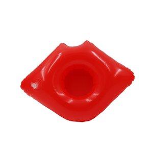 Gonflable Red Lips Porte-gobelet Pool Party jouets fun eau décoration natation berverage bateau aiment matériel PVC gros