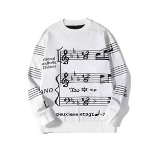 Мода Мужские стилист Кофты мужские стилиста высокого качества печати свитер Мужчины Женщины пуловер с длинным рукавом Размер M-2XL белый