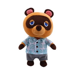 Raccoon Plush Animal Toy Crossing Cartoon Figure Plush Doll Soft Stuffed Toys Children Gift Toys Bear Plush Toys with Clothes