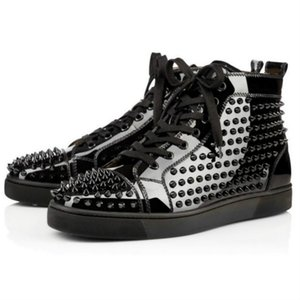 Designer Shoes Men Women Chaussures Studded Spike Sneakers Triple Black White Red Leather Suede Flat Bottoms Arthur ND01