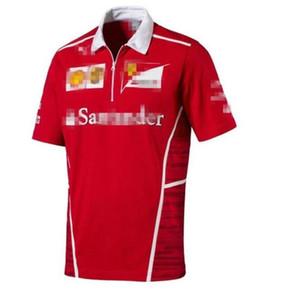 2020 F1 페라리 팀의 팬은 페라리 키미 라이코넨 남성의 반소매 T 셔츠 경주 정장 의류