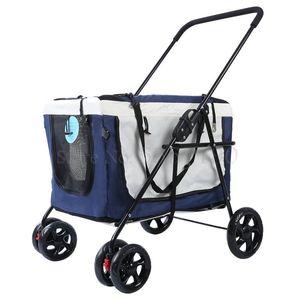 Pet stroller dog paparazzi cat stroller outdoor car trolley light portable foldable bag