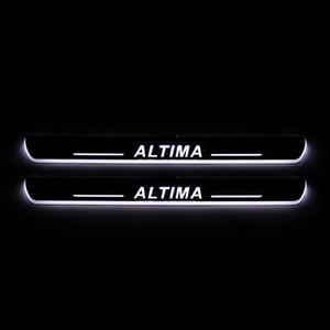 لنيسان ألتيما 2015 2016 2017 2018 تتحرك الاكريليك LED ترحيب دواسة السيارة جرجر لوحة دواسة عتبة الباب المسار الخفيفة
