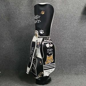 Limit Verkauf kommen neue Marke Katze Golfbag limite Verkauf der Qualitätsfrauen wasserdichte PU-Leder Standard-Kugeltasche frei senden Putter Schlägerhauben