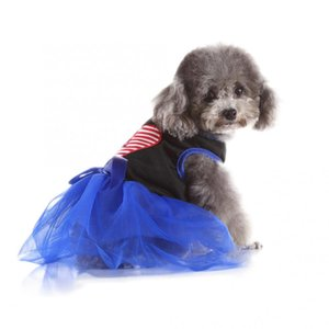 Pet Dog Princess Tutu Skirt Carino poliestere Pet Dog principessa Dress vestiti del cucciolo Bowknot del merletto gonna abbigliamento costume
