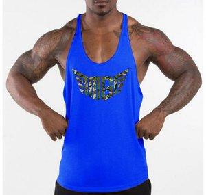 2019 피트니스 배트맨 의류 코튼 맨즈 Y 백 탱크 탑스 보디 빌딩 스트링거 1cm 숄더 스트랩 gyms vest Sexy Workout Undershirt