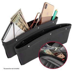 2 en 1 Car Seat Gap Organisateur   Universal Fit   Poches de rangement Adjust   2 Set Car Seat Crevasse Boîte de rangement