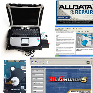 2019 car diagnostic laptop toughbook cf19 with alldata10.53 mitchell alldata 2in 1 with 1tb hdd 1 year warranty ready to use