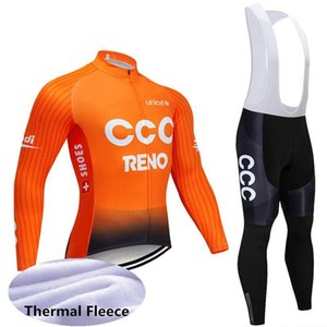 2019 Winter Team New Ccc Thermal Fleece Cycling Jersey Bike Pants Set Mens Ropa Ciclismo Winter Cycling Wear Maillot Culotte Y022602