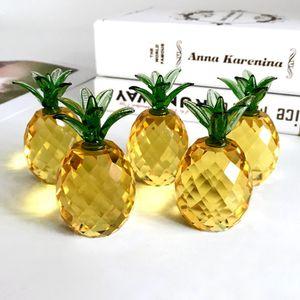 Healing Quartz Crystal Stein natürliche gelbe Kristallprisma Ananas Figuren Briefbeschwerer Home Art Collectibles Hochzeitsgeschenke