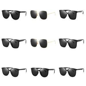 2020 Popular Moda Sports Óculos de sol sem aro Limpar Óculos Mens Óculos Ouro Prata Metal Frame chifre de búfalo Vidros e caso # 767