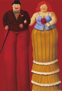 Fernando Botero palhaço gordura sobre tela pintado à mão Home Decor HD Pinturas Imprimir óleo sobre tela Wall Art Pictures 200205