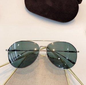 kutusuyla Gözlük UV400 koruması giymek Yeni 0747 Üst Tasarımcı Güneş Basit metal oval çerçeve gözlük Ultra hafif Kolay