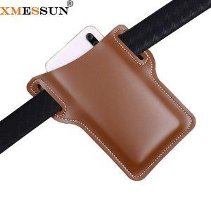 XMESSUN téléphone mobile ceinture Sac 2020 New Fashion Outdoor outil couverture Ceinture dames téléphone portable Protection Portable Leather Case Ins