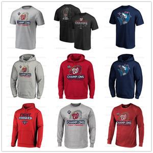 WashingtonBaseball formaları Nationals 2019 Washington Şampiyonlar tişört uzun kollu kapşonlu Fanlar Tişörtler Erkek hoodies Baskılı Logolar Tops