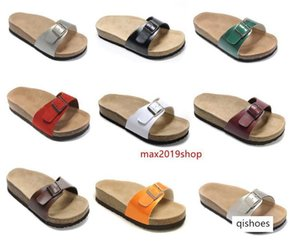 new style With Orignal Box Men s Woman Famous Brand Flat Sandals Comfortable Casual one Buckle Summer Beach Genuine Leather Slipper Madrid