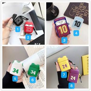 Для Airpods Pro Case Designer No.24 Баскетбол Джерси Мягкая Ударопрочный силиконовый Беспроводная связь Bluetooth для Apple Airpod 1/2 крышка случая защиты